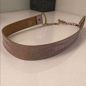 Pink Italian Leather Belt